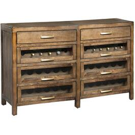 8 Drawer Mink Server, with Wine Rack thumb
