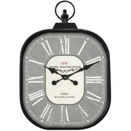 "18"" x 26-3/4"" Black Hotel Westminister Wall Clock thumb"