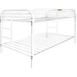 White Twin Over Twin Bunk Bed thumb