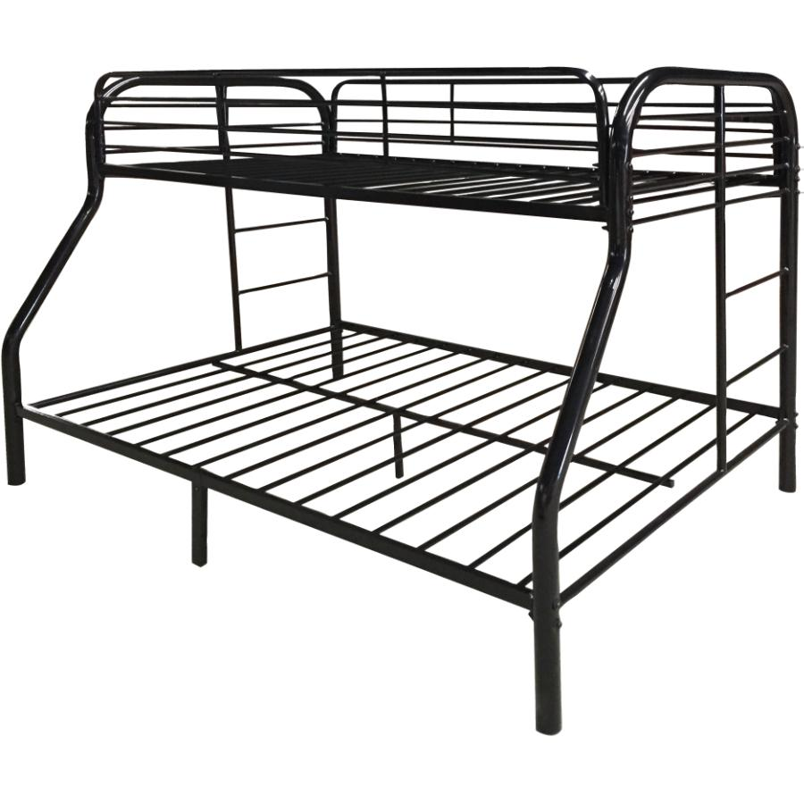 Springsdale Espresso Wood Twin Over Double Bunk Bed Home Hardware