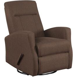 Brown Swivel Space Saver Glider Recliner thumb