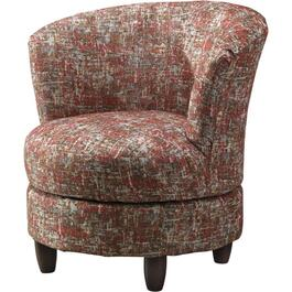 Tapestry Palmona Swivel Barrel Chair, with Espresso Legs thumb