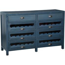 8 Drawer Fountain Pen Blue Server, with Wine Rack thumb