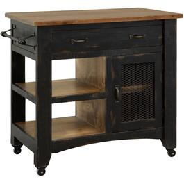 Pueblo Collection Black Kitchen Island thumb
