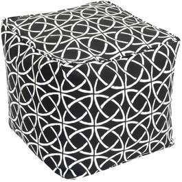 "18"" x 18"" Cube Black Onyx Fabric Ottoman thumb"