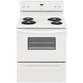 "30"" White Manual Clean Coil Top Electric Range thumb"