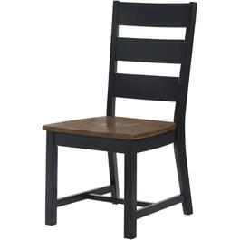 Walnut/Black Drake Wood Side Chair thumb