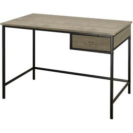 1 Drawer Grey Distressed Office Desk thumb