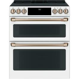 "30"" 6.7 cu. ft. Matte White Induction Oven thumb"
