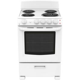 "24"" White Manual Clean Coil Top Electric Range thumb"