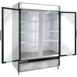 48 cu. ft. Stainless Steel/Clear 2 Door Commercial Grade Vertical Freezer thumb