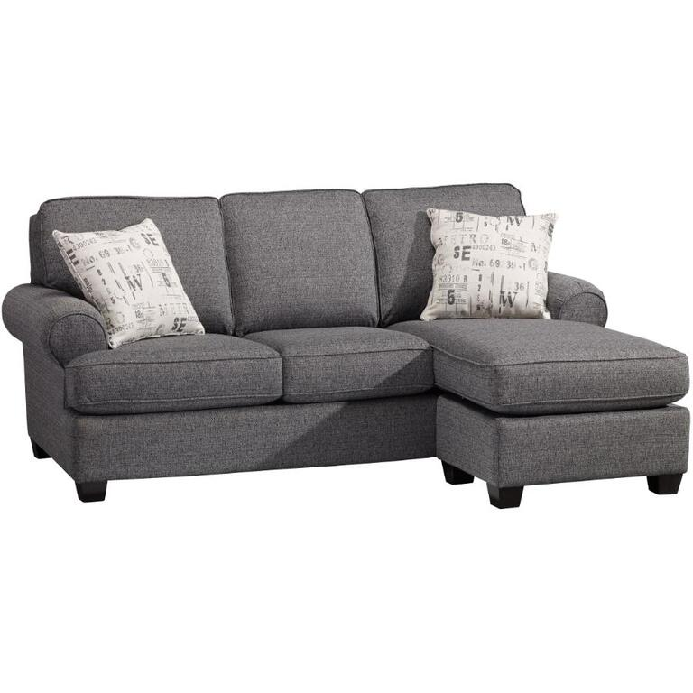DECOR REST FURNITURE Charcoal Force Sofa With Chaise