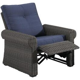 Boulder Creek Wicker Reclining Chair, with Cushion thumb