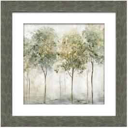 "22"" x 22"" Smokey Trees 1 Framed Wall Plaque thumb"