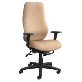 Navy Upholstered High Back Office Chair thumb