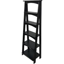 "66"" 6 Tier Black Ladder Shelf thumb"