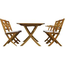 5 Piece Nancy II Wood Dining Set, with Cushions thumb