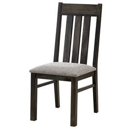 Graphite Mattawa Wood Side Chair, with Upholstered Seat thumb