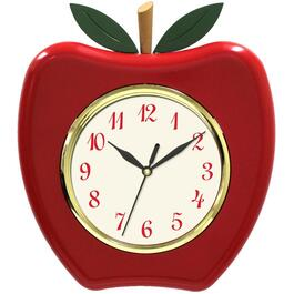"8.3"" x 9.4"" Red Apple Wall Clock thumb"