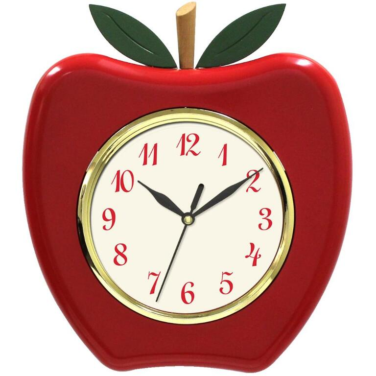 83 X 94 Red Apple Wall Clock Home Furniture