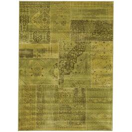 6' x 8' Antika Green Patchwork Area Rug thumb