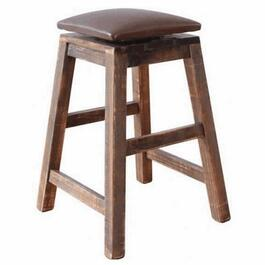"24"" Multi-Coloured Swivel Bar Stool, with Leather Seat thumb"