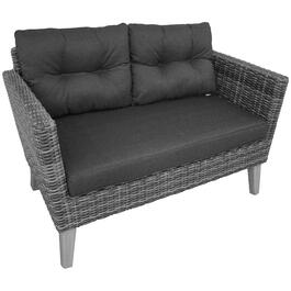 2 Seat Seville Wicker Loveseat, with Cushions thumb