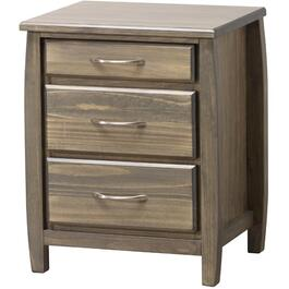 3 Drawers Tofino Clay Finish Night Table thumb