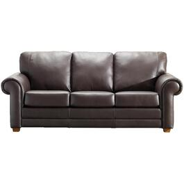 Coffee Brown Impala Leather Sofa thumb