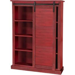 Burnt Red Cabinet, with Barn Door thumb