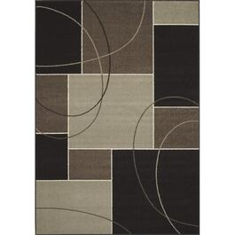 4' x 6' Casa Charcoal and Grey Squares Area Rug thumb