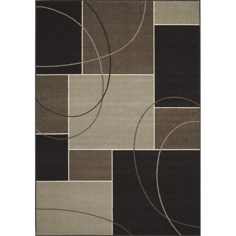 6 X 8 Casa Charcoal And Grey Squares Area Rug Home Furniture