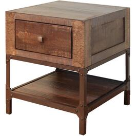 1 Drawer Urban Gold Square End Table thumb