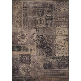 6' x 8' Antika Black Patchwork Area Rug thumb