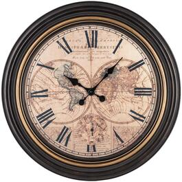 "20"" Carta Map Wall Clock thumb"
