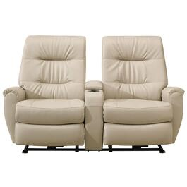 Taupe Felicia Power Space Saver Recliner Loveseat, with Console thumb