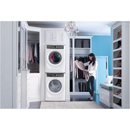 8 cu. ft. White Dryer, with Steam thumb