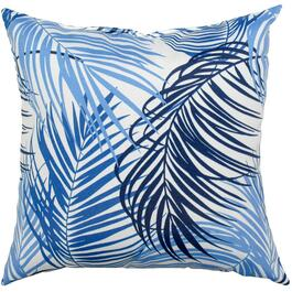 "16"" Square Blue Floral Throw Pillow thumb"