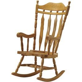 Natural Queen Ann Wood Rocker thumb