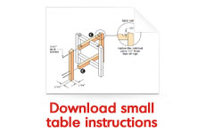 Download small table instructions