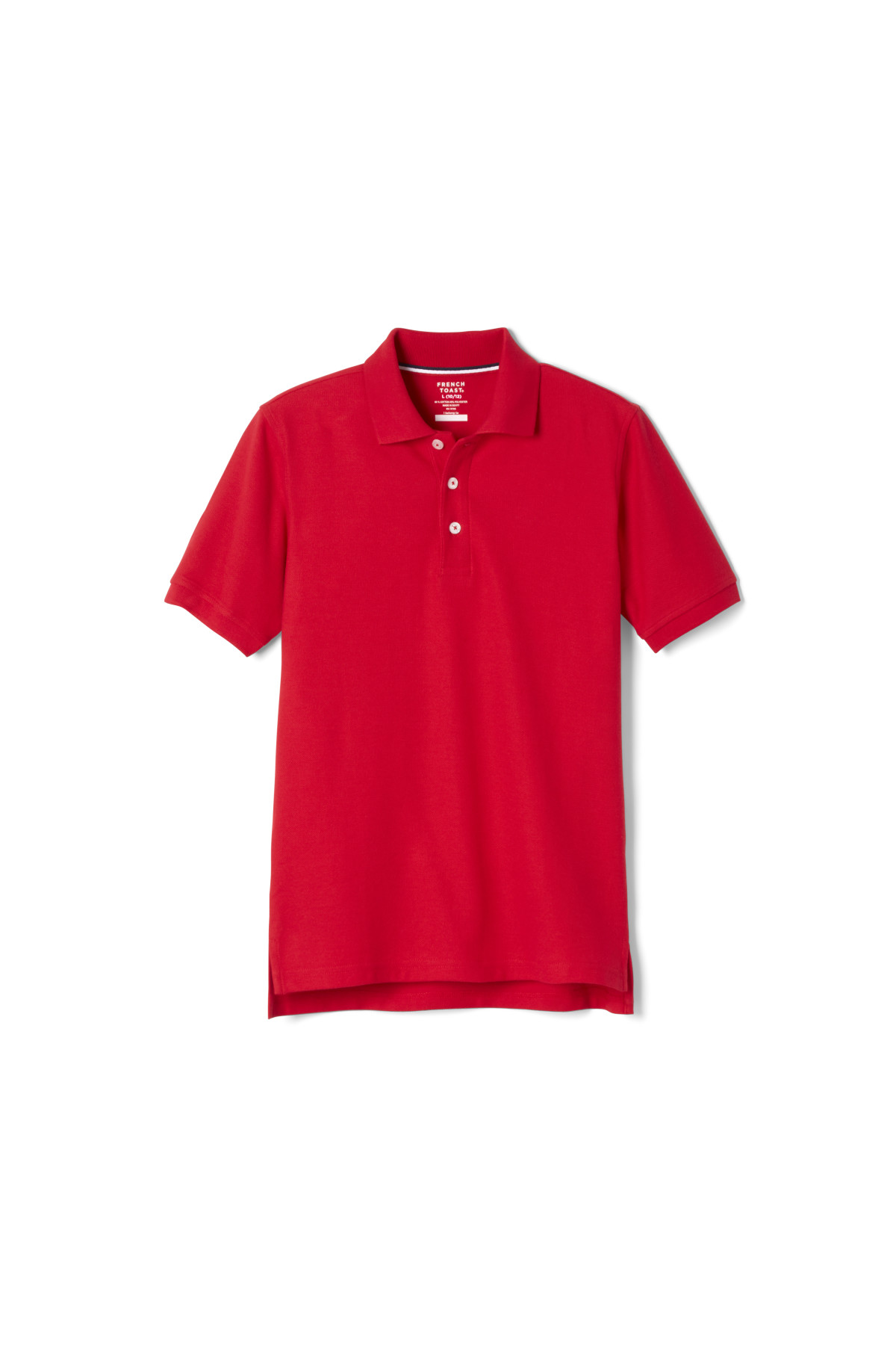 French Toast Toddler Unisex Short Sleeve Navy Pique Knit Polo Shirt