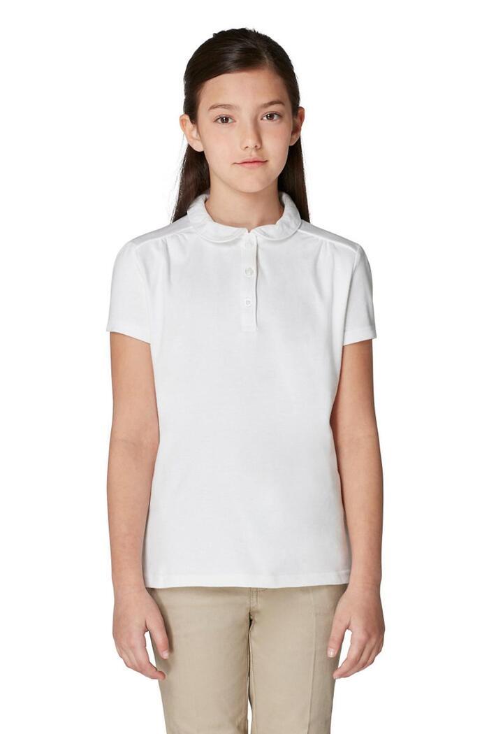 948e847bb79 Short Sleeve Peter Pan Polo Girls Toddler