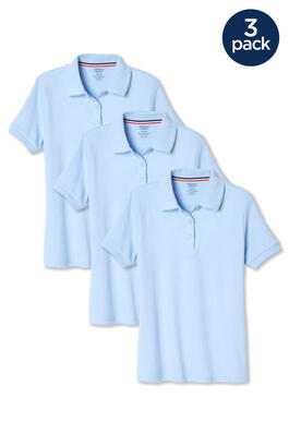 of Short Sleeve Interlock w. Picot Collar 3-Pack