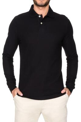 of Long Sleeve Pique Polo