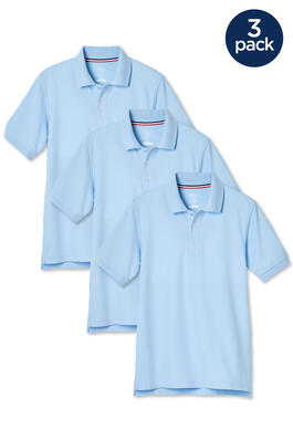 of Short Sleeve Pique Polo 3-Pack