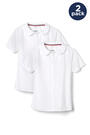Front view of Product Image of New! Short Sleeve Modern Peter Pan Blouse 2-pack opens large image