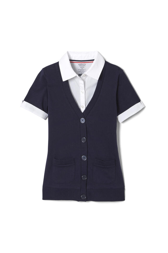Product Main Image of Cardigan 2-in-1 Blouse