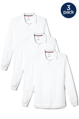 of Long Sleeve Pique Polo 3-Pack