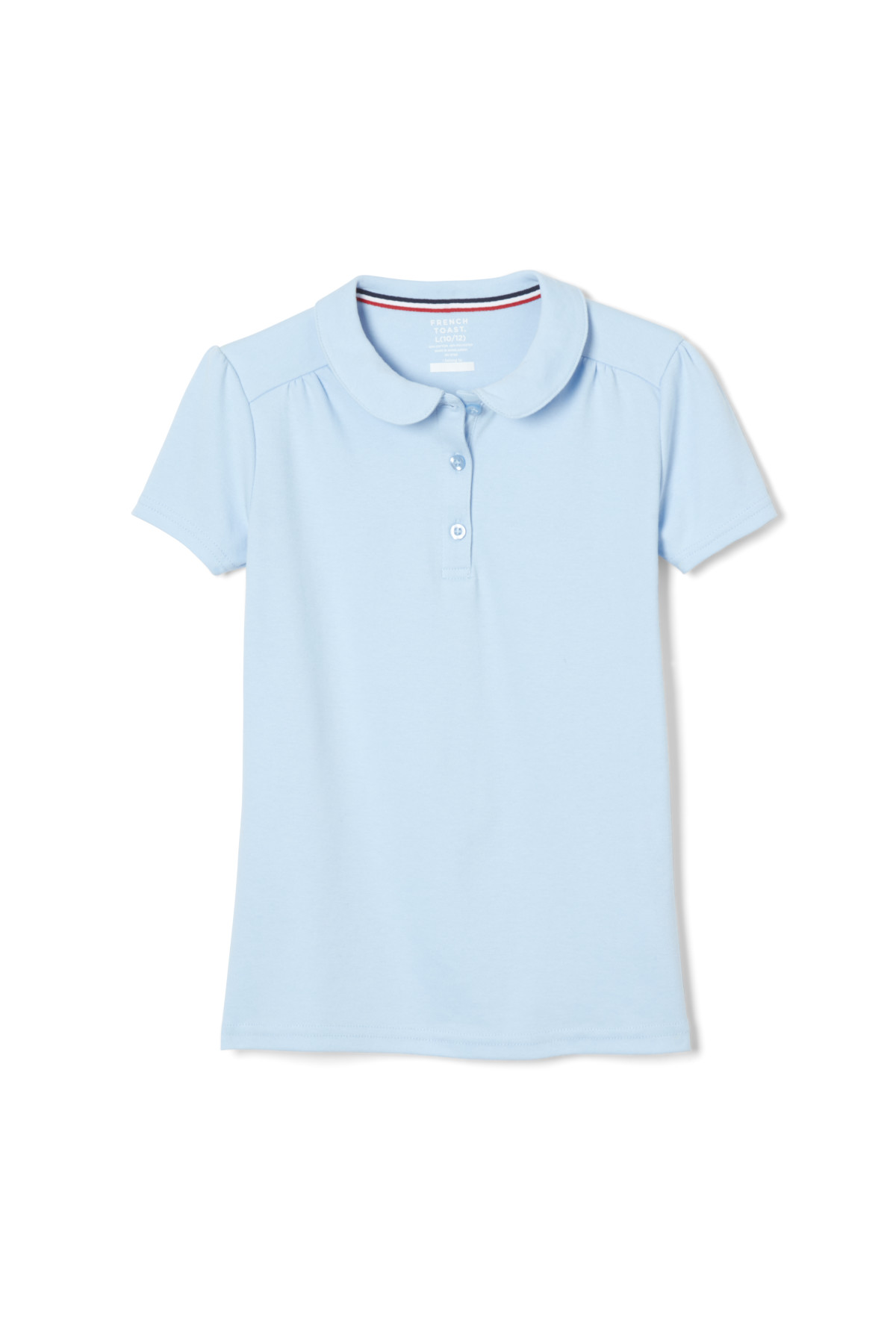 French Toast Girls Puff Sleeve Double Button Polo