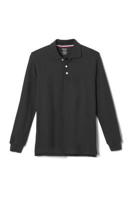 Product Image with Product code 1009,name  Long Sleeve Pique Polo   color BLAC